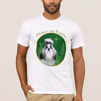 地球のシーズー(犬)のTzuの平和 Tシャツ