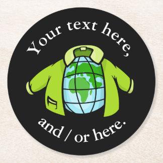 地球のジャケット ラウンドペーパーコースター