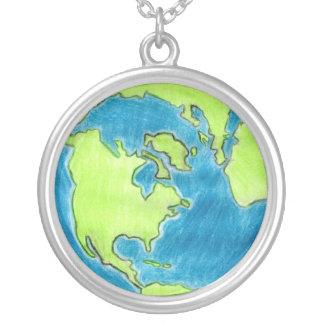 地球のネックレスの顔 ネックレス