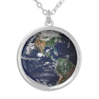 地球のネックレス シルバープレートネックレス