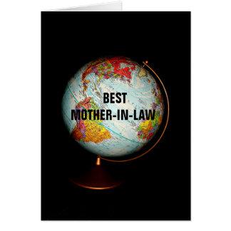 地球のハッピーバースデーの最も最高のな義母! カード