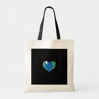 地球のハートのバッグ トートバッグ