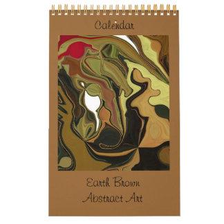 地球のブラウンの抽象美術 カレンダー