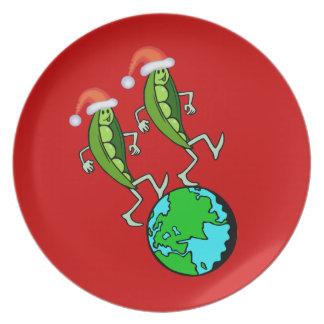 地球の休日のエンドウ豆 プレート