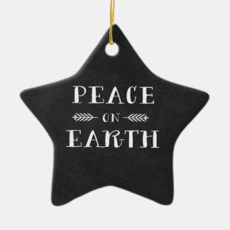 地球の休日のクリスマスのオーナメントの平和 セラミックオーナメント
