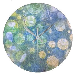 地球の円の柱時計 ラージ壁時計