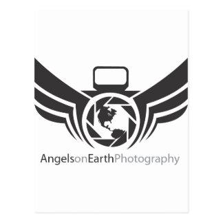 地球の写真撮影のロゴBlack.pdfの天使 ポストカード
