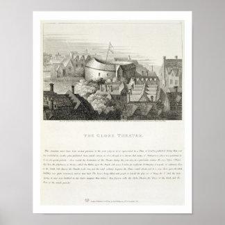 地球の劇場、c.1647はロバートWilによって、出版しました ポスター