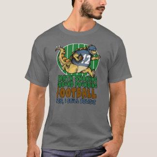 地球の動揺のフットボール Tシャツ