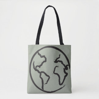 地球の図解入りの、写真付きのなトートバック トートバッグ