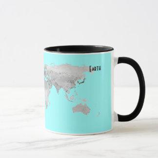 地球の地図 マグカップ