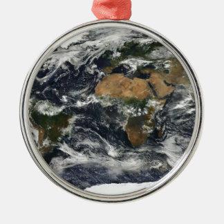 地球の地図 メタルオーナメント