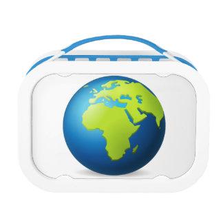 地球の地球ヨーロッパアフリカ- Emoji ランチボックス