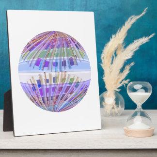 地球の地球:  神聖な紫色の軽いショー フォトプラーク