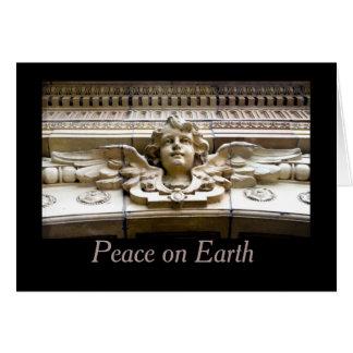 地球の天使の休日の挨拶状の平和 カード