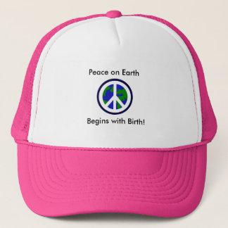 地球の平和は誕生から始まります! キャップ