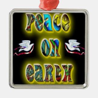 地球の平和 メタルオーナメント