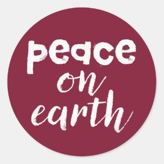 地球の平和 ラウンドシール