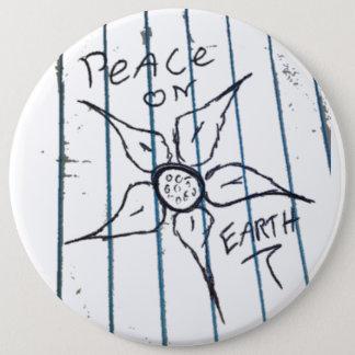 地球の平和 15.2CM 丸型バッジ