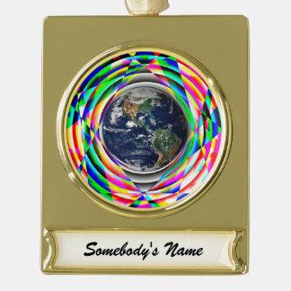 地球の感情 ゴールドプレートバナーオーナメント