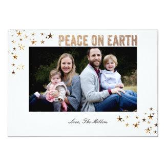 地球の星の平和 12.7 X 17.8 インビテーションカード