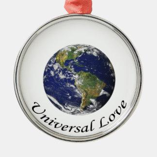 地球の普遍的な愛 メタルオーナメント