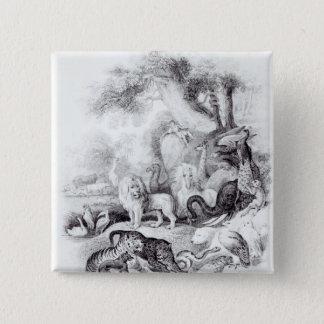 「地球の歴史からの野生動物 缶バッジ