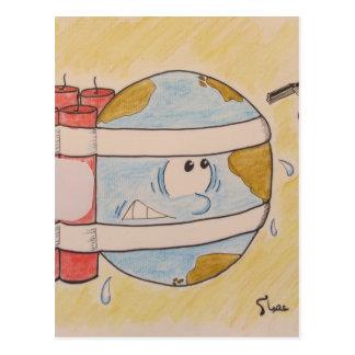 地球の汚染 ポストカード