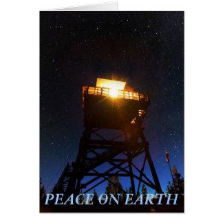 地球の火の眺望タワーの平和 カード