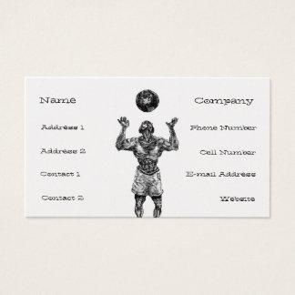 地球の球のプロフィールカードテンプレート 名刺