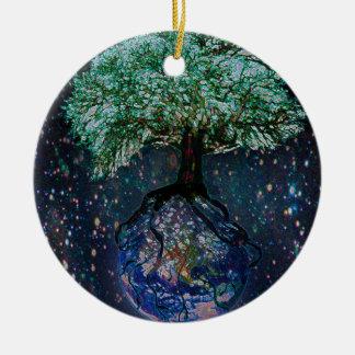 地球の生命の樹 セラミックオーナメント