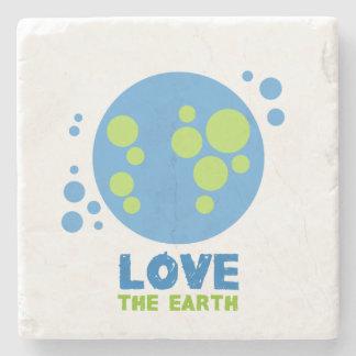 地球の石のコースターを愛して下さい ストーンコースター