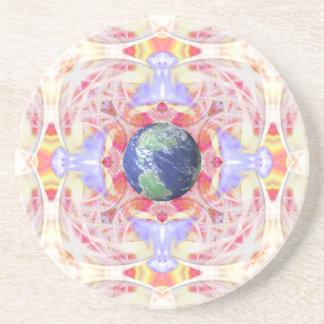 地球の砂岩コースターの平和の曼荼羅 コースター