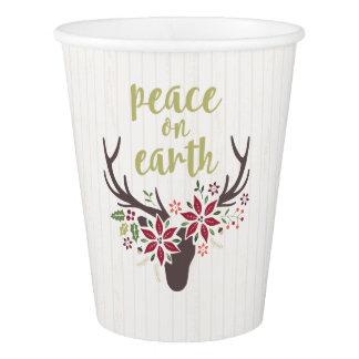 地球の紙コップの平和 紙コップ