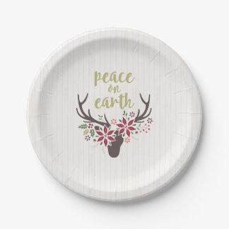地球の紙皿の平和 ペーパープレート