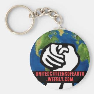 地球の統一されたな市民 キーホルダー