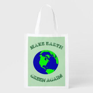 地球の緑の再使用可能な買い物袋を再度作って下さい エコバッグ
