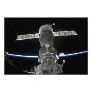 地球の肢はSoyuzの宇宙船を横断します フォトプリント