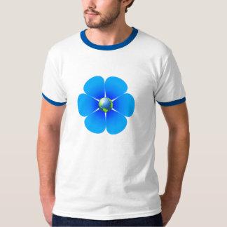 地球の花メンズ信号器のティー Tシャツ