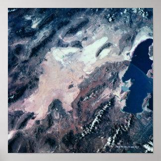 地球の衛星眺め ポスター