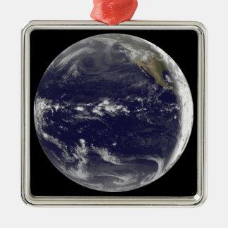 地球の衛星眺め メタルオーナメント