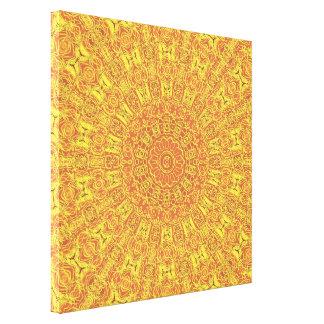 地球の要素はパターン包まれたなキャンバスの輪郭を描きます キャンバスプリント