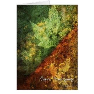 地球の調子および葉の感謝祭カード カード
