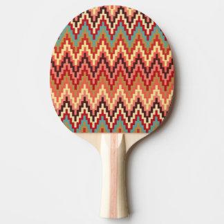 地球の調子のイカットのシェブロンのジグザグ形のストライプなパターン 卓球ラケット