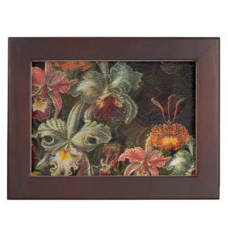地球の調子のヴィンテージの花 ジュエリーボックス