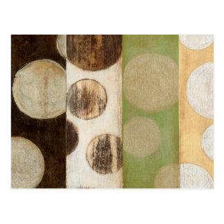 地球の調子の円との木製のパネルの絵画 ポストカード