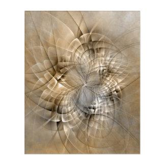 地球の調子の抽象的でモダンなフラクタルの芸術の質 アクリルウォールアート