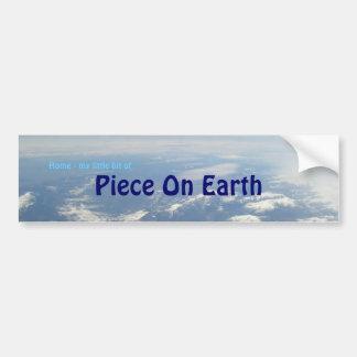 地球の部分 バンパーステッカー