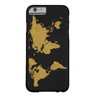 地球の金地図 BARELY THERE iPhone 6 ケース