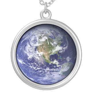 地球の青い惑星のネックレス カスタムネックレス